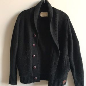 Other - Black cowl neck thick cardigan